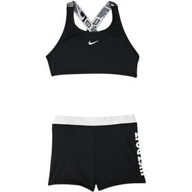 Nike Swim JDI Set Bikini Sport Crossback Ragazza, black